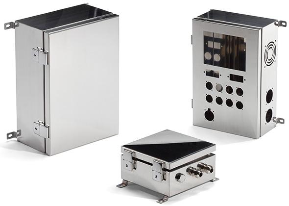 IP65 WALLMOUNT HINGED STAINLESS STEEL BOX - SLM series
