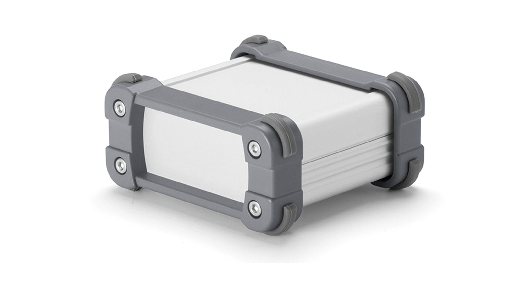 ALUMINIUM ENCLOSURE with CORNER GUARD - EXP series:Silver/Gray