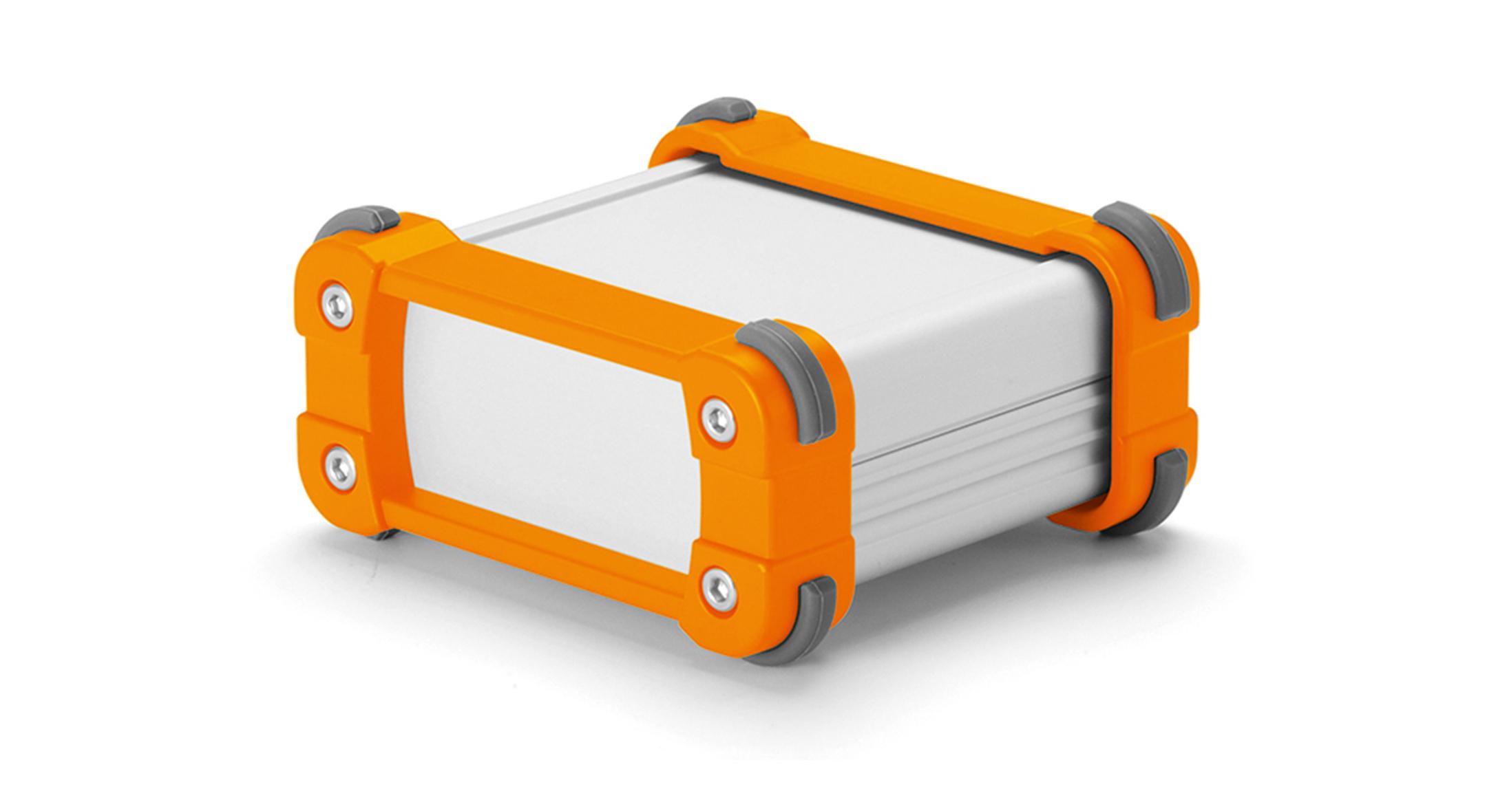 ALUMINIUM ENCLOSURE with CORNER GUARD - EXP series:Silver/Orange